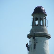 Painting begins on the Hoad Monument